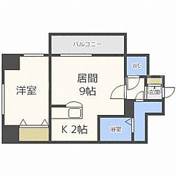 北海道札幌市豊平区豊平二条1丁目の賃貸マンションの間取り