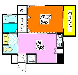 ファースト・アベニール 401号室[4階]の間取り