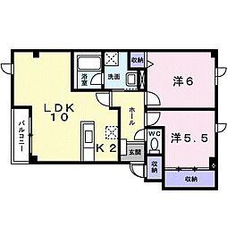 北海道札幌市手稲区稲穂三条2丁目の賃貸アパートの間取り