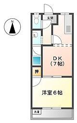 サンパレスITOH[2階]の間取り
