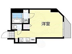 都営大江戸線 両国駅 徒歩4分の賃貸マンション 3階ワンルームの間取り