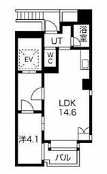 JR山手線 恵比寿駅 徒歩10分の賃貸マンション 9階2LDKの間取り