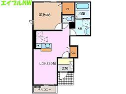 サニーハイツSEINAI[1階]の間取り