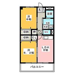 マンションはなき3[3階]の間取り