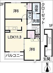シュティールひなのA棟[2階]の間取り