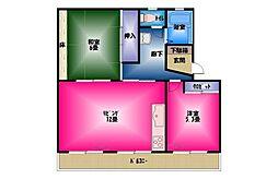 加茂ハイツ3号[3階]の間取り