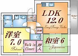 兵庫県神戸市垂水区西舞子7丁目の賃貸マンションの間取り