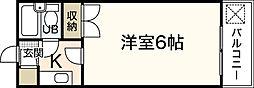 エステート19古江東[4階]の間取り
