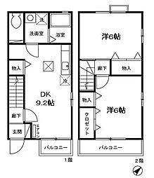 [テラスハウス] 神奈川県横浜市旭区万騎が原 の賃貸【/】の間取り