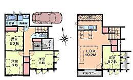 建物参考プラン例97.71平米1800万円(税込)こちらは一例ですのでご希望間取りで建築可能