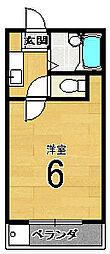 シティーコーポ円町[302号室]の間取り