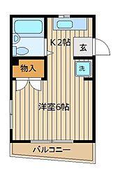 埼玉県富士見市水谷東2丁目の賃貸マンションの間取り