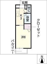 フレグランス黒野[1階]の間取り