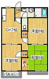 ドミール石井[2階]の間取り