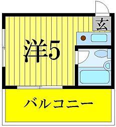 レジデンスカープ青戸[3階]の間取り