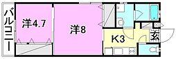 プレアマール・KIKU 西棟[101 号室号室]の間取り