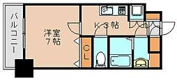 サヴォイ箱崎セントリシティ[13階]の間取り