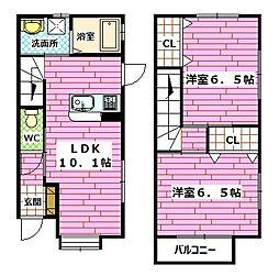 [テラスハウス] 広島県広島市安佐南区西原2丁目 の賃貸【/】の間取り