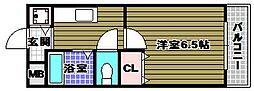 ラパス高倉台[1階]の間取り