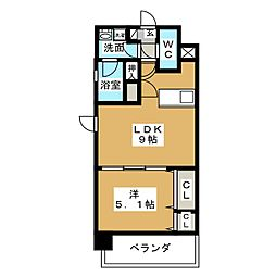 グランデュール東桜[11階]の間取り