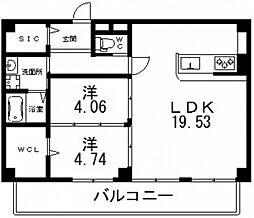 仮)寺田町1丁目新築マンション[501号室号室]の間取り
