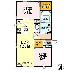 (仮称)D-room円行2丁目[201号室]の間取り