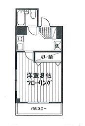 第6若井ビル[502号室]の間取り