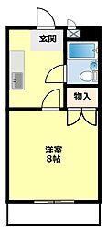 シャンポール三栄前山 I[206号室]の間取り