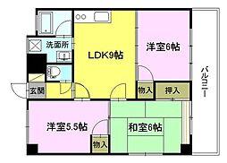 山幸マンション[2階]の間取り