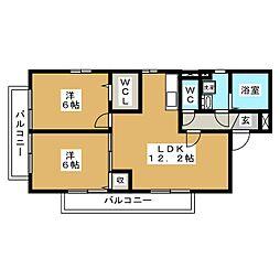 グランドゥール・スード B棟[2階]の間取り