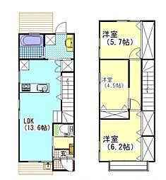 [タウンハウス] 岡山県岡山市南区新保 の賃貸【/】の間取り