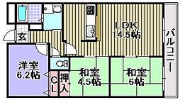 岸和田WIN[202号室]の間取り
