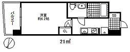 セレニテ三宮プリエ 7階1Kの間取り