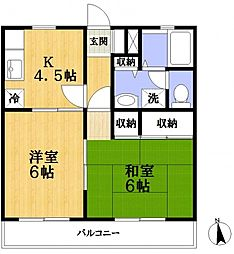 クレスト松江[1階]の間取り