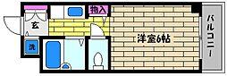 兵庫県芦屋市打出町の賃貸マンションの間取り