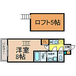 エステムコート名古屋栄デュアルレジェンド[6階]の間取り