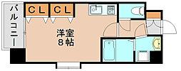 サヴォイ箱崎邸園[5階]の間取り