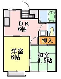 サンハイム今井[203号室]の間取り