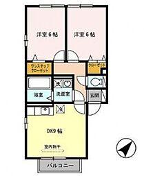 メルベーユ高井田[1階]の間取り
