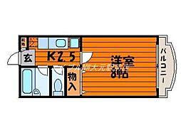 リーセント大和町[4階]の間取り
