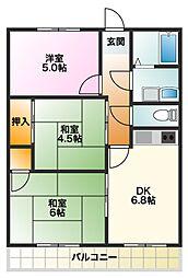 愛知県碧南市鶴見町6丁目の賃貸アパートの間取り