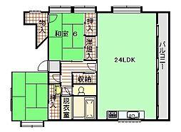 板谷ビル[3階]の間取り