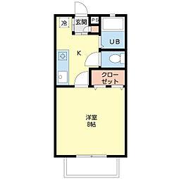 新潟県新潟市中央区学校町通3番町の賃貸アパートの間取り