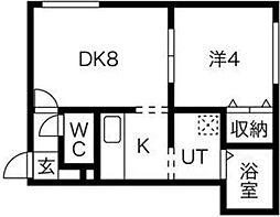 ヴェルデュール中央[2階]の間取り