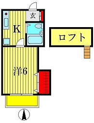 スタジオA[1階]の間取り