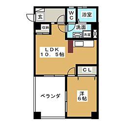 浪芳ビル[2階]の間取り
