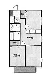 ソレイユ 202号室[2階]の間取り
