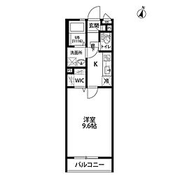wisteria[103号室]の間取り