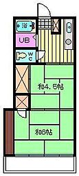 石栄コーポ[202号室]の間取り