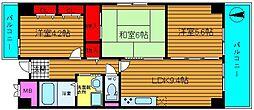 グランファミール桜川[3階]の間取り